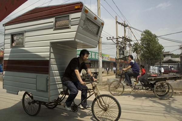 Fahrrad-Caravan - Quelle: http://boondocking.files.wordpress.com/2011/06/camper-bike.jpg